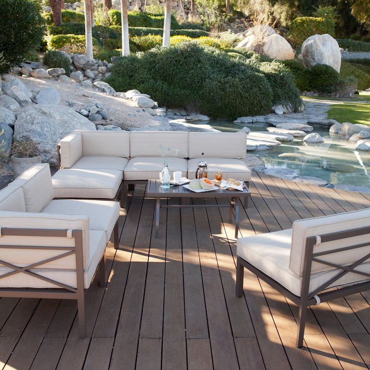 Elegant Aluminum Sectional Sofa Set   Seats The Modular Design Means You Can  Configure T. Nice Design