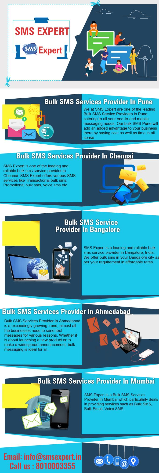 We at SMS Expert are one of the leading Bulk SMS Service Providers in Pune catering to all your end-to-end mobile messaging needs. Our bulk SMS Pune will add an added advantage to your business there by saving cost as well as time in all sense. Bulk SMS Service in Pune is a Tool to sending the sms or text message in mass without using a mobile phone. Actually using of a Bulk SMS gateway would be to push the simple message to a mobile phone.