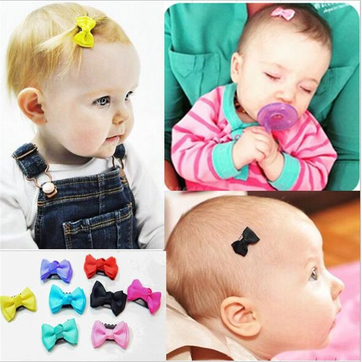 YWHUANSEN 10pcs/lot 2017 Cute Baby Girl Hair Clips Mini Bowknot Hair Accessories Spot Infant Small Hairpin For Children Barrette
