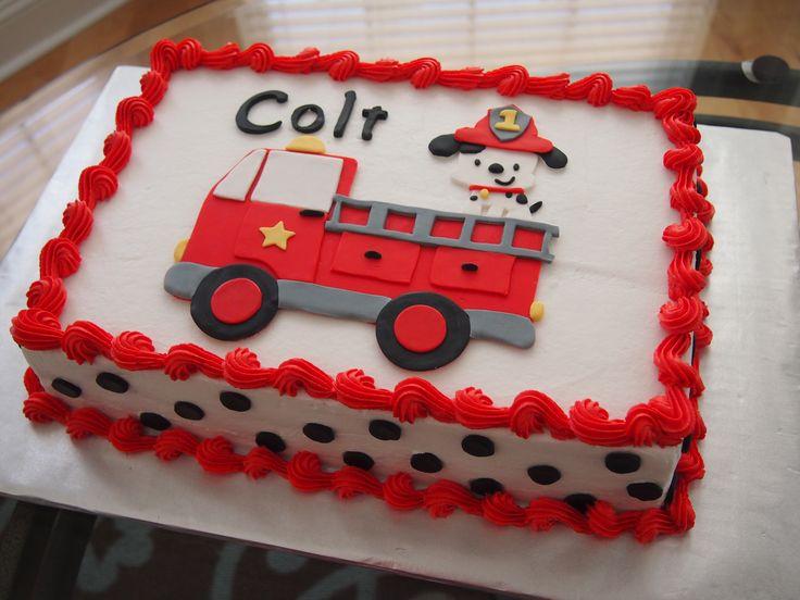 Firefighter Birthday Sheet Cake