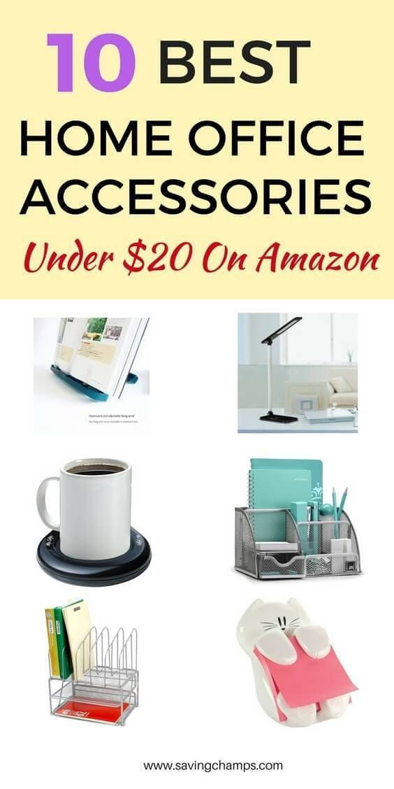 Best Home Office Accessories Under $25 From Amazon. | home office ideas and tips; office declutter; house declutter; home organization items