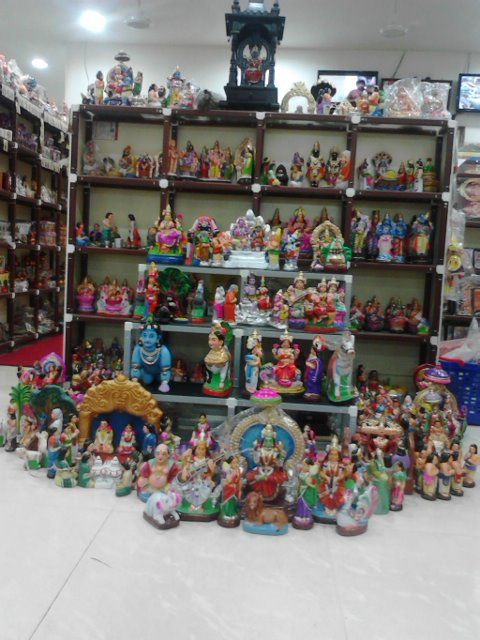 NAVARATRI 2014 GOLU PADI DISPLAY @ PONDYCHERRY SHOWROOM