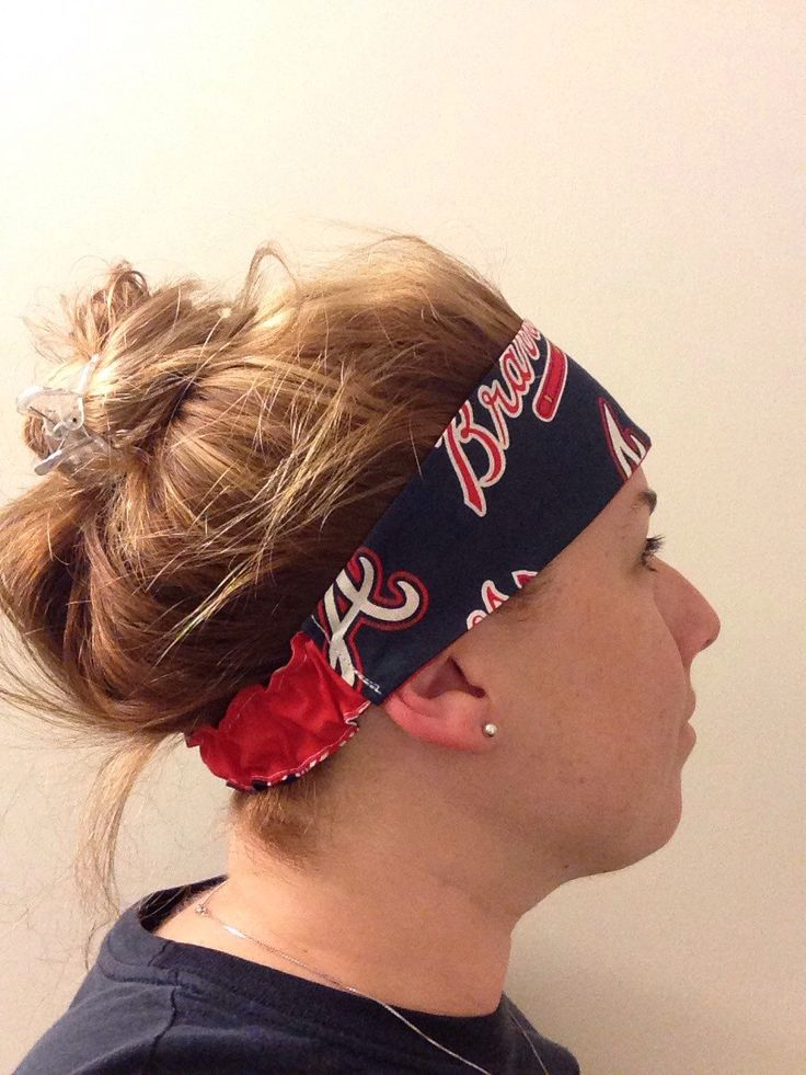 A personal favorite from my Etsy shop https://www.etsy.com/listing/230672306/workout-yoga-headband-atlanta-braves