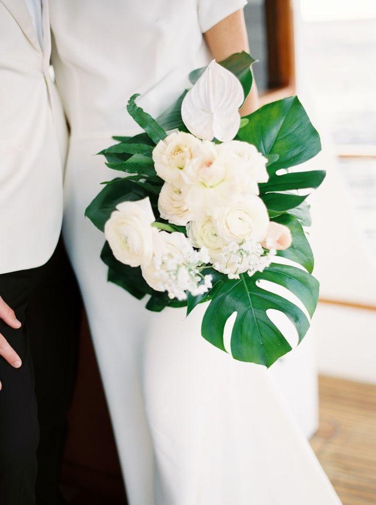 bouquet from WAIKIKI HAWAII WEDDING INSPIRATION: http://www.trendybride.net/waikiki-hawaii-wedding-inspiration/