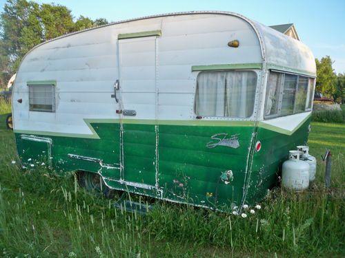Look it's for For Sale. A Vintage 1961 Shasta camper Teardrop Hot Rod Trailer. It Had Wings. For sale until Nov 15, 2013
