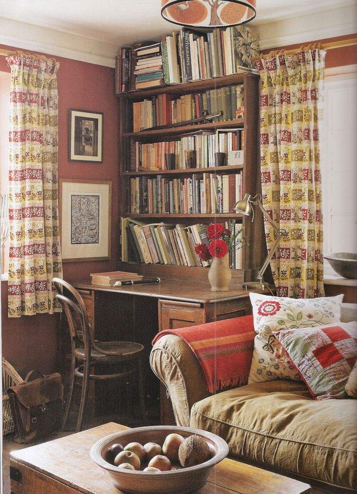 Small Cottage Interiors Cozy Home Office Cottage: Cottage Interiors, Cottage Living Rooms, Country Cottage Interiors