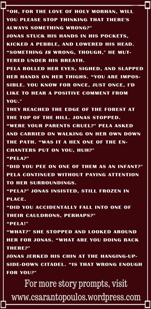 Writing Prompt 55, Chris Sarantopoulos, fantasy prompt