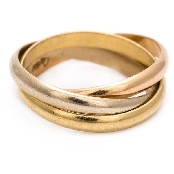 Gold triple band thumb ring — photo 2