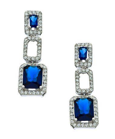 Vivian Jacob Sapphire CZ Link Drop Earrings #maxandchloe