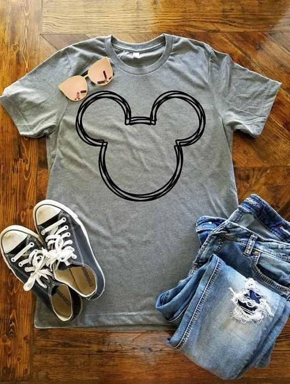 a6ba88d4 Mickey Mouse T-Shirt / Disney Vacation Shirt / Modern Mickey Shirt /  Minimalist Disney Shirt / Talk