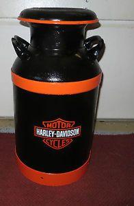Gallon Can Harley-Davidson | Harley-Davidson-Vintage-Antique-10-Gallon-Milk-Can