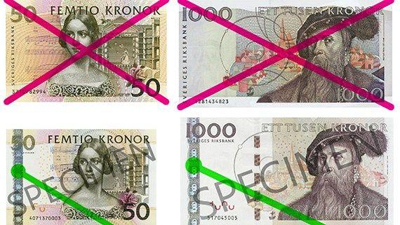50 و1000 کرونیهای بدون نوار فلزی از پایان سال 2013 اعتبار نخواهد داشت