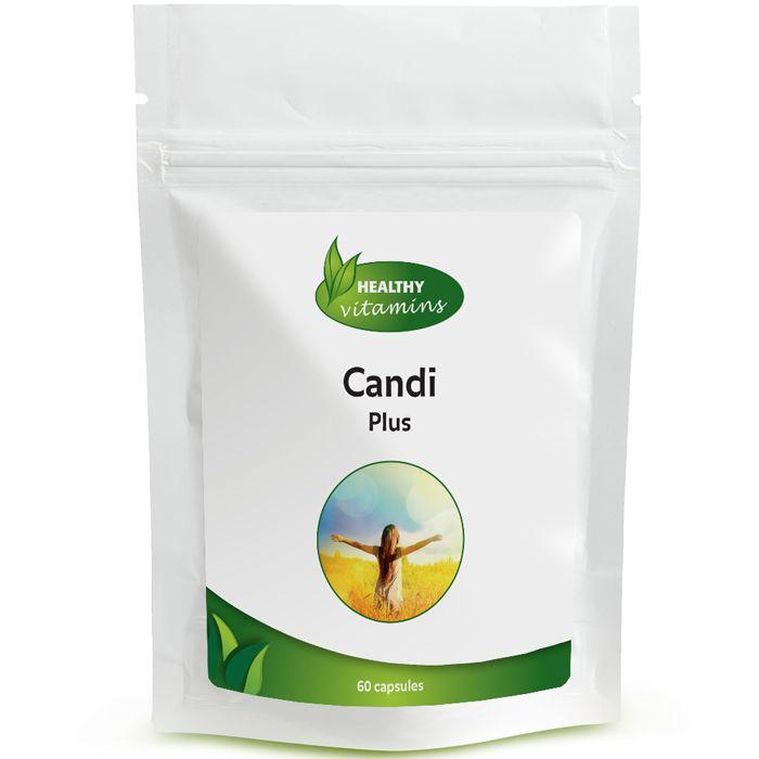 Candi Plus is een krachtige formule van 10 plantaardige ingrediënten waaronder Zwarte Walnoot, Oregano-olie, Biotine en Caprylzuur. Deze natuurlijke stoffen helpen het evenwicht van de darmflora te ondersteunen. Daarnaast stimuleert het de inwendige reiniging en helpt de weerstand te verhogen tegen ongunstige bacteriën en schimmels. Geschikt voor vegetariërs. Prijs per 60 capsules: €16,95