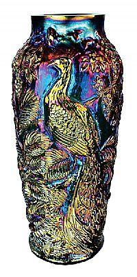 """14 1/2"""" carnival glass vase"""