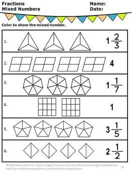 Fraction Worksheets, 3rd Grade Math Distance Learning ...