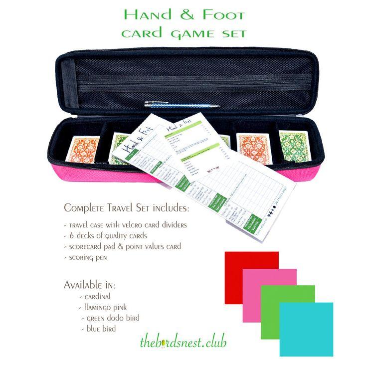 Hand foot card game set green dodo bird set card