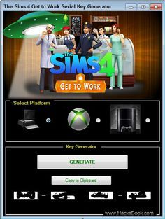 The Sims 4 Get to Work Serial Key Generator