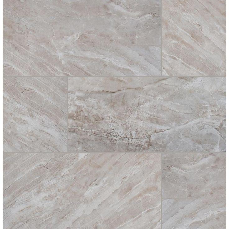 Atrium Kios Gris Glazed Porcelain Floor Tile: MSI Bergamo Gris 12 In. X 24 In. Glazed Ceramic Floor And