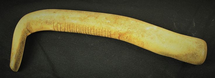 Plains Elk horn scraper with tally marks