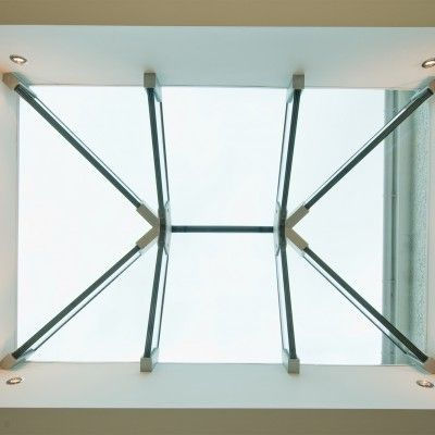 7/8 Example of a Glass Beam Supported Glass Rooflight.