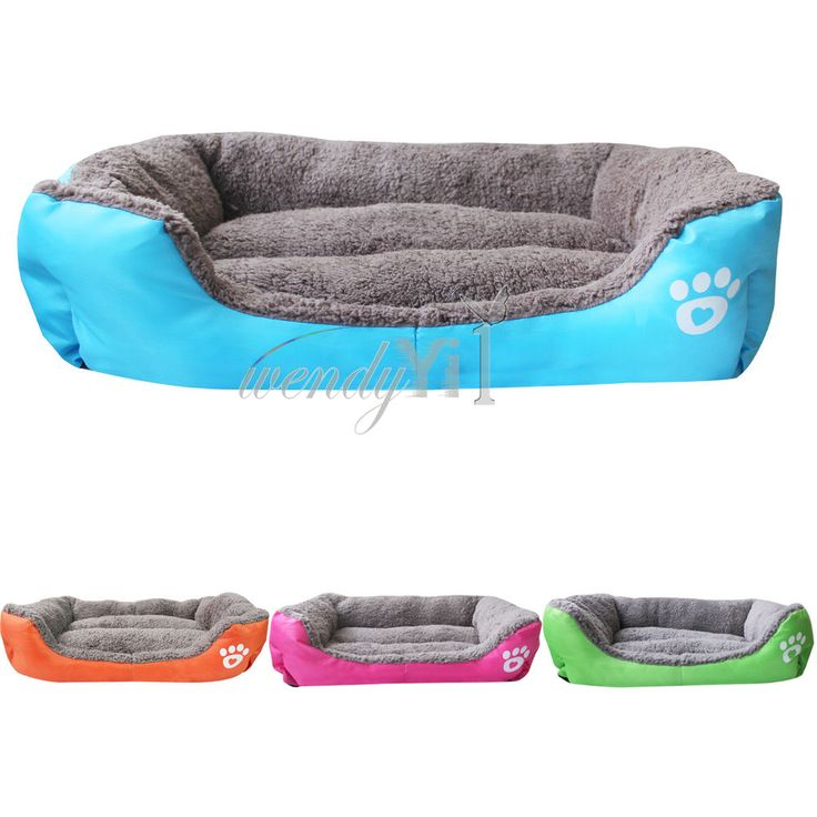 Large Small Pet Dog Puppy Cat Soft Fleece Warm Nest Bed Plush Pad Cotton Mat Set #Fashion #NestingBed