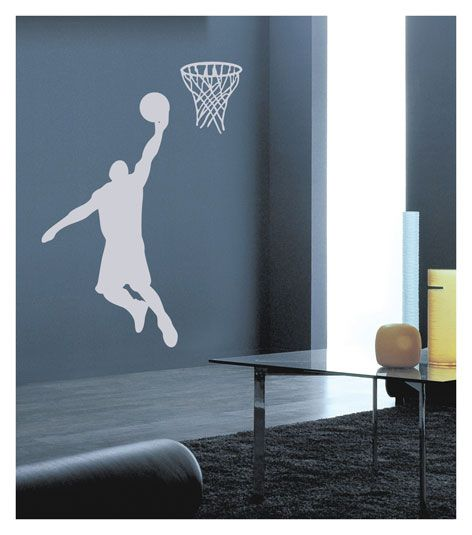 Muursticker basketbal ribount