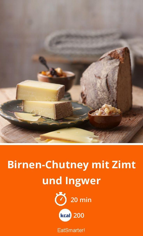 Birnen Chutney Mit Zimt Und Ingwer Rezept Birnen Chutney Chutney Rezepte
