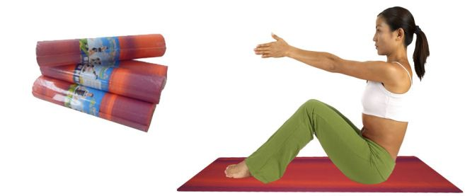 A standard yoga exercise mat is about 1/8 inches thick, while the thickest expand up to 1/4 inches.   Read more @ http://www.shivayogamats.com/