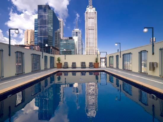 Rooftop swimming pool, Hotel Grand Chancellor,  Melbourne