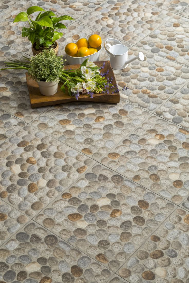 Piso stoneriver 40 x 40 cm gris patios swimming pools for Pisos ceramicos para patios
