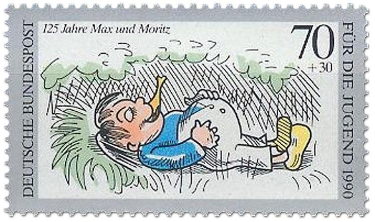 Fauler Sack Max, Briefmarke 1990