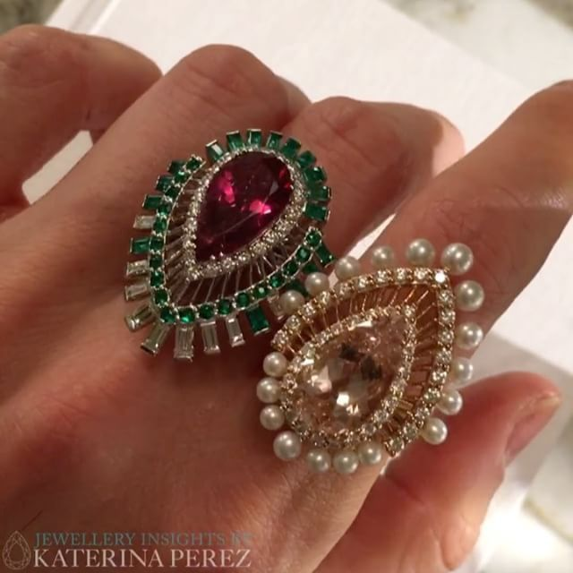 New HiddenGarden #highjewellery #rings by the British designer #SarahHo @sarahhojewellery. Which one do you prefer-left or right? ;) #sarahhoonkaterinaperezcom #jewelleryart #artjewellery #Highjewelry #hautejoaillerie #cocktailrings #finejewellery #luxury