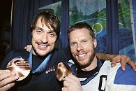 Teemu Selänne and Saku Koivu, iconic hockey players