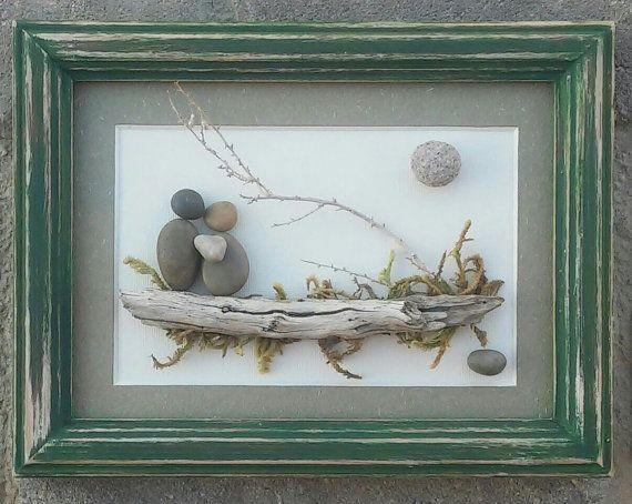 Pebble Art Rock Art Pebble Art Couple Rock Art couple