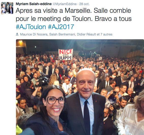 La marocaine Myriam Salah-Eddine a rejoint l'équipe d'Alain Juppé : ex « pilote » de la Grande mosquée de Marseille