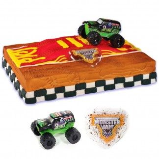 Monster Jam Cake Decoration Kit | Monster Trucks Party Supplies - Discount Party Supplies