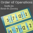 Add an extra dimension to teaching Order of Operations with this fun, hands-on activity that your students will LOVE. Write an answer from the key on the board and then have students place the game pieces on the number strips to make the equation that equals the answer.