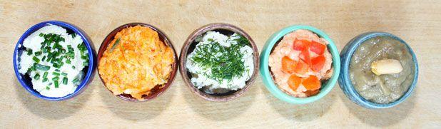 Mit kenjünk a kenyérre? - Liptói tofukrém, Vineta, padlizsánkrém, Mustáros hagymakrém, Zöldborsókrém, Mandulás répapástétom