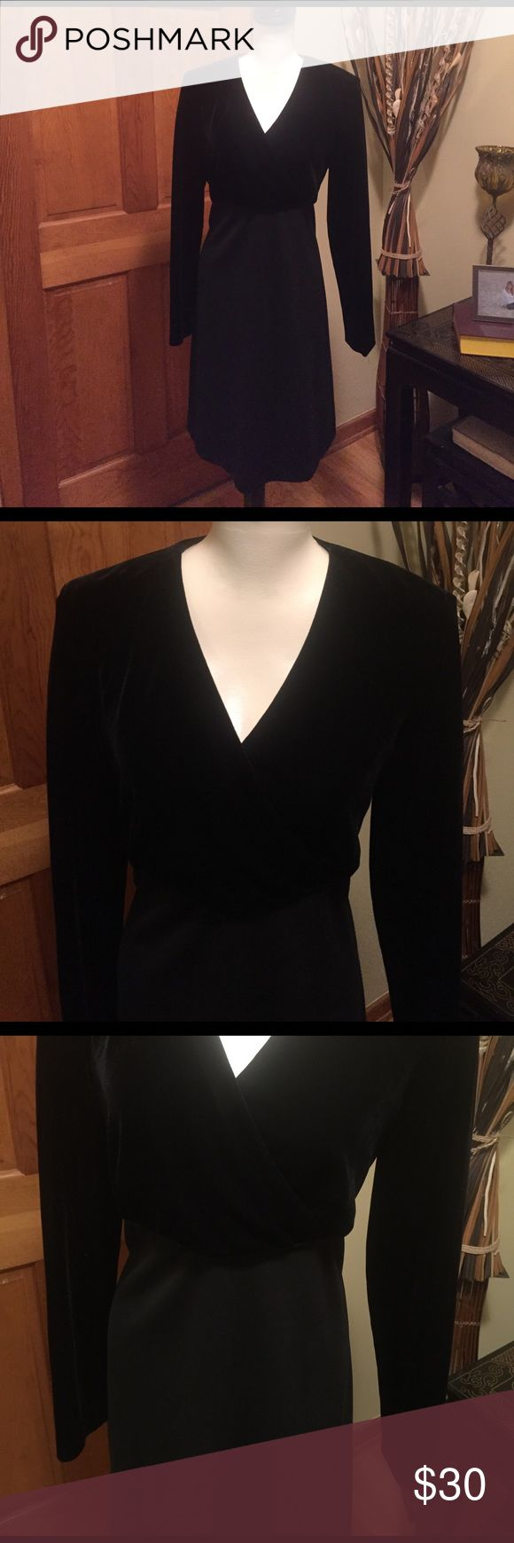 Donna Ricco BEAUTIFUL black dress Donna Ricco black dress - soft velour feel on top. Lightly worn great condition.   Size 12 (tag has been removed). LOVELY AND CLASSY look Donna Ricco Dresses