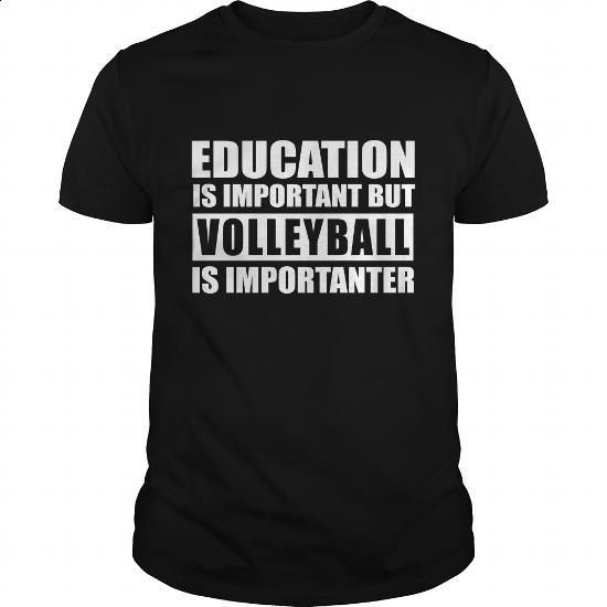 Volleyball is importanter - #women #pullover. I WANT THIS => https://www.sunfrog.com/Hobby/Volleyball-is-importanter-Black-Guys.html?60505