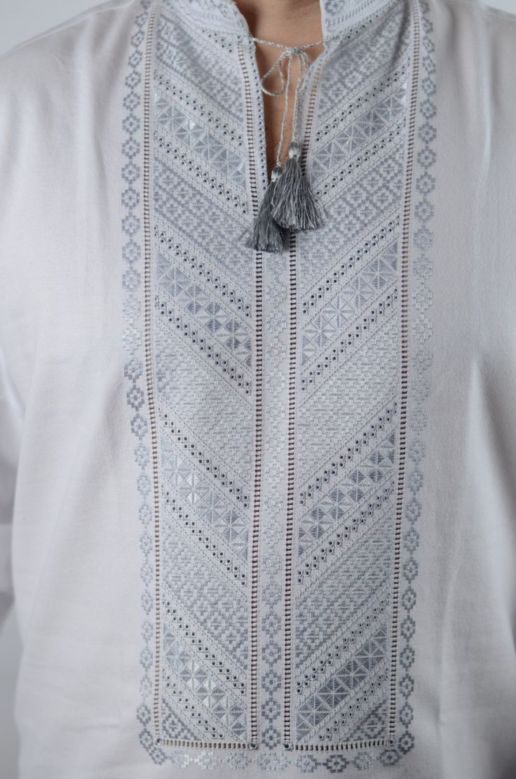 Ukrainian traditional ebmroided men's shirt - Hand Crafted - Vyshyvanka by…