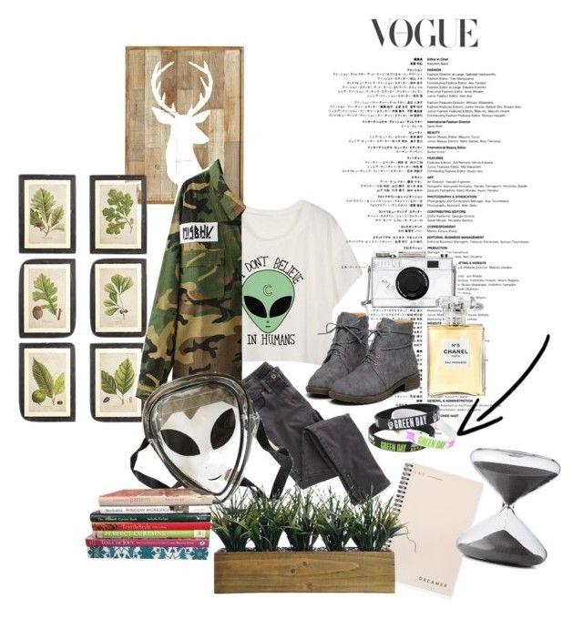 """Alien"" by kawaiitimemachine on Polyvore featuring moda, OKA, Wrap, Kate Spade, Chanel, Bing Bang, Laura Ashley ve Timing"