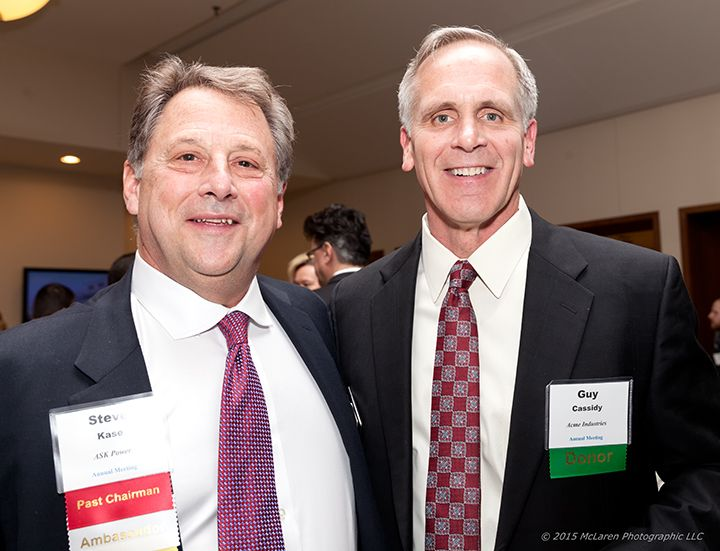 Steve Kase, ASK Products (l) Guy Cassidy, ACME Industries