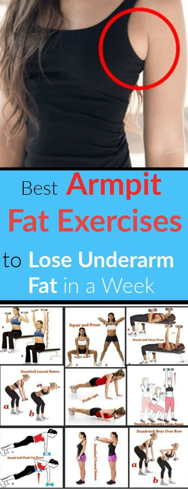 Wie man Achselhöhlenfett in einer Woche-10 loswird Beste Unterarm-Fett-Übungen