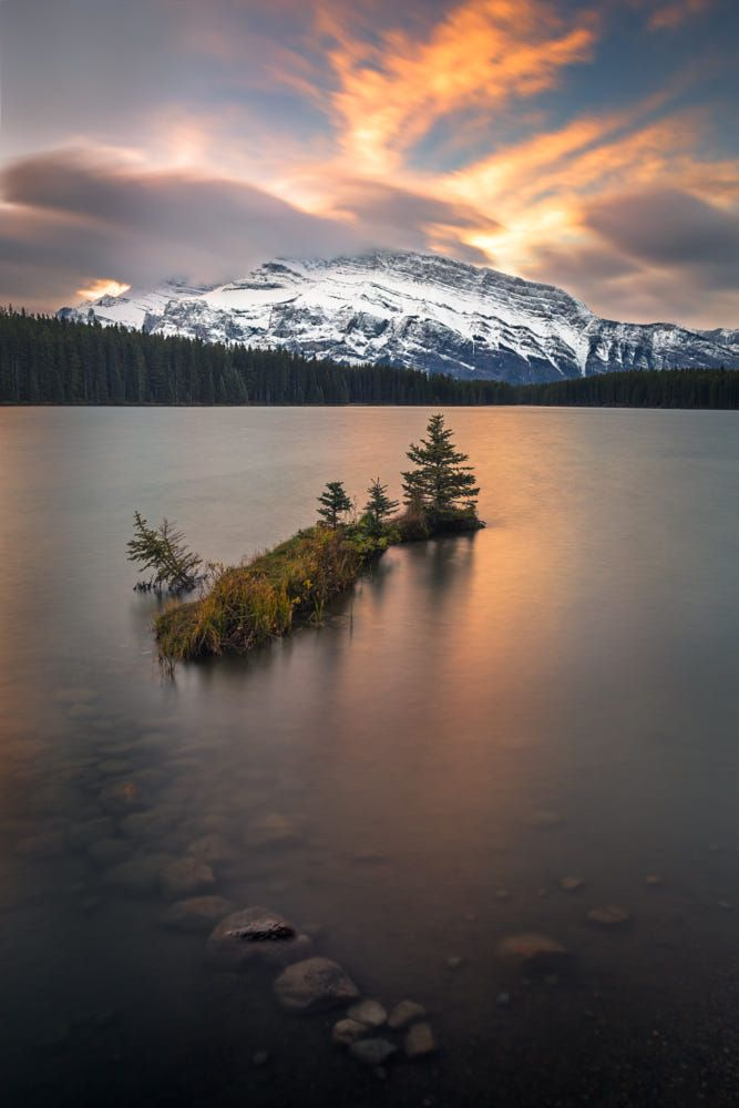 Sunrise over Two Jack Lake in Banff NP. by Chris Greenwood on 500px