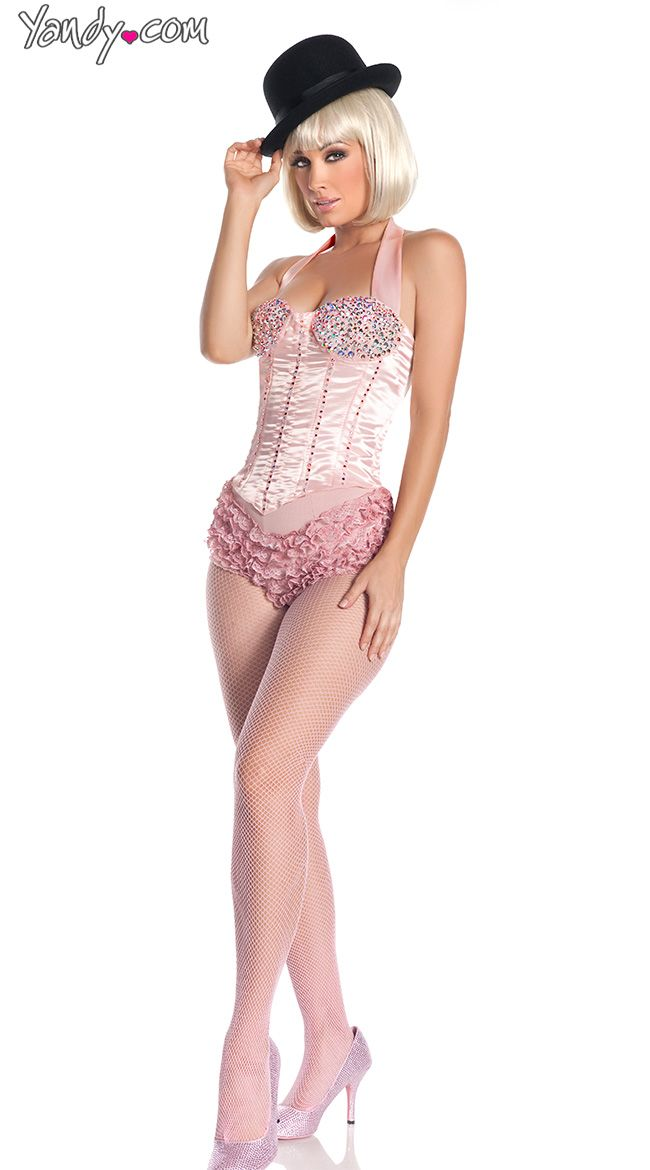 Deluxe Pink Burlesque Dancer Costume  sc 1 st  Pinterest & 27 best Costumes images on Pinterest | Burlesque costumes Halloween ...