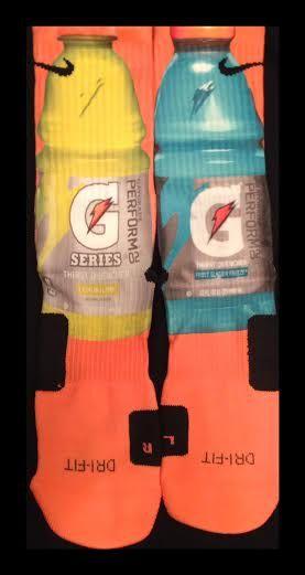 Gatorade Custom Parody Nike Elite Socks by LuxuryElites on Etsy, $35.99
