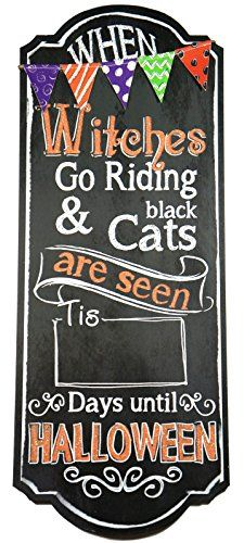 Count down the days until Halloween with our large chalkboard countdown sign!