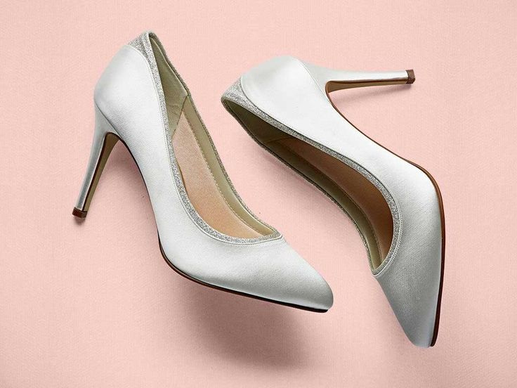Billie - Ivory Shimmer Court Shoes by Rainbow Club - Buy online from £79.00.