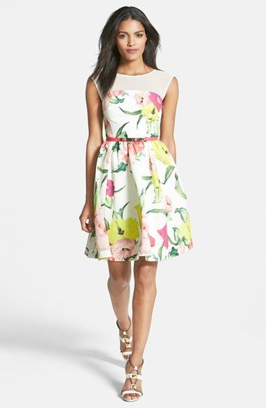 Ted Baker London 'Flowers at High Tea' Print Dress available at #Nordstrom